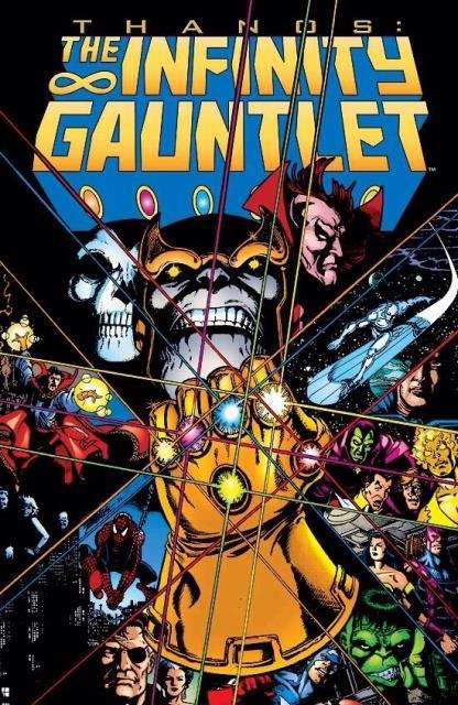 La copertina della saga Il Guanto dell'Infinito