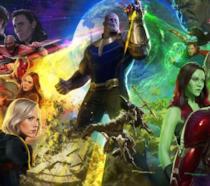 Un'immagine promozionale di Avengers: Infinity War