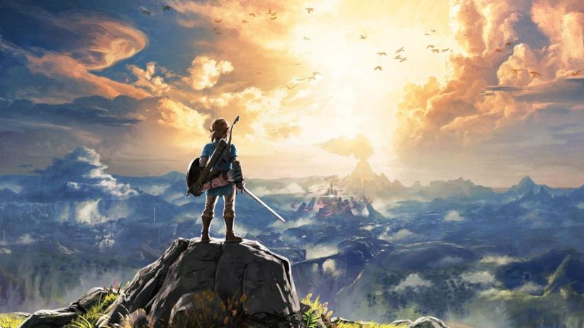 Link ammira l'orizzonte in The Legend of Zelda: Breath of the Wild
