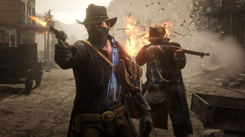 Una furiosa sparatoria in Red Dead Redemption 2