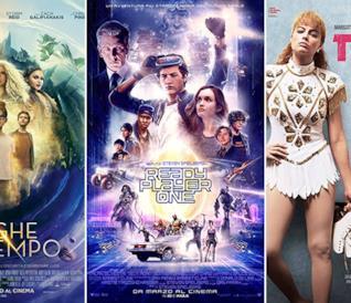I poster dei film Nelle pieghe del tempo, Ready Player One e Tonya