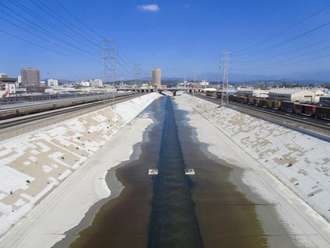 Un dettaglio del fiume di Los Angeles