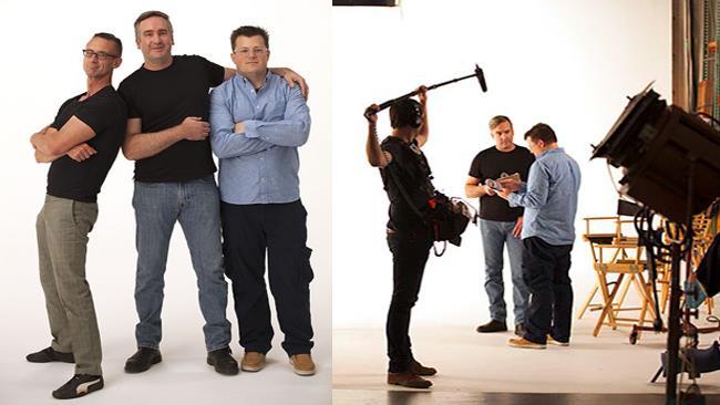 Chuck Palahniuk, Josh Leake e il regista Andy Mingo