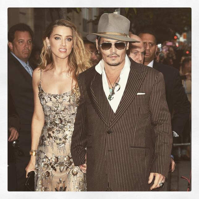Amber Heard e Johnny Depp nel 2015
