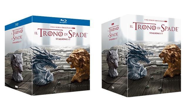 Packshot dei I cofanetti del Trono di Spade (1-7)