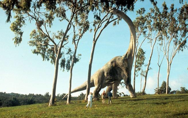 Un brachiosauro, uno dei dinosauri più imponenti del Mesozoico