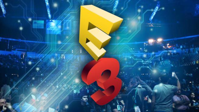 Il logo rosso e giallo dell'E3
