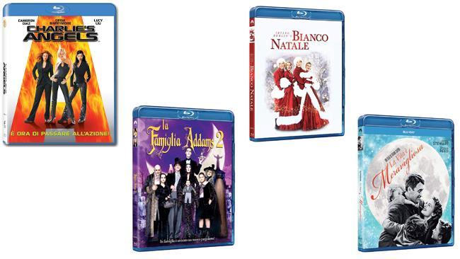 Charlie's Angels, La famiglia Addams 2, Bianco Natale e La vita è meravigliosa in formato Blu-ray