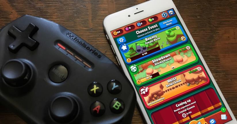 Il gioco Brawl Stars in esecuzione su un iPhone