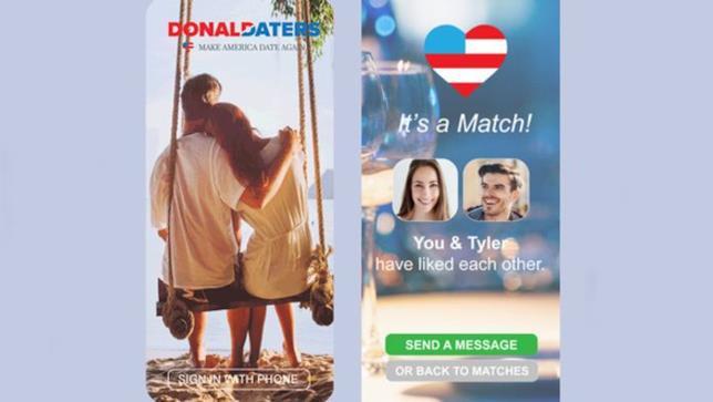 L'interfaccia di Donald Daters