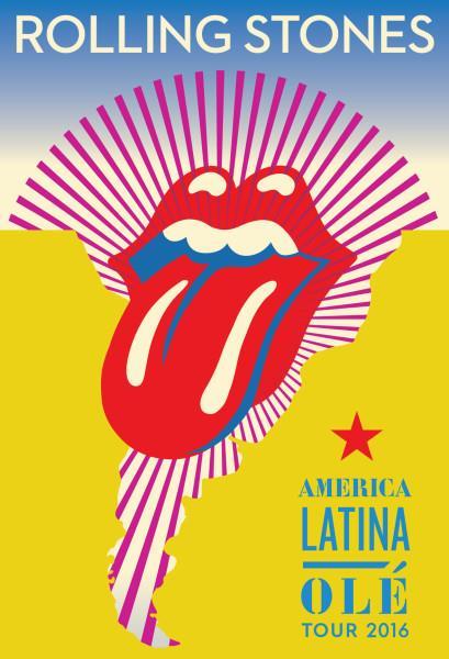 Il poster ufficiale del tour sudamericano dei Rolling Stones