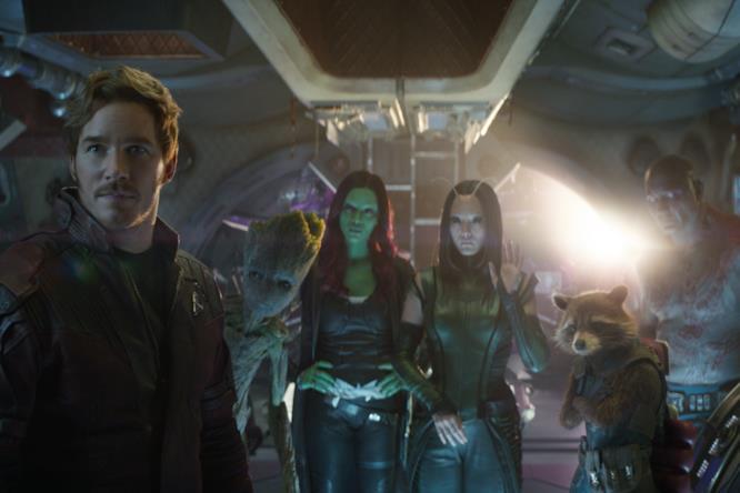 I Guardiani della Galassia nella loro astronave