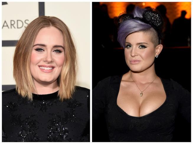 Primo piano di Adele e Kelly Osbourne