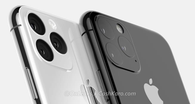 La scocca posteriore di iPhone XI in un render