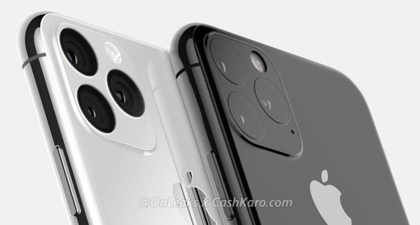 La scocca posteriore di iPhone XI in un render