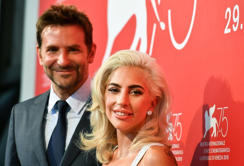 Lady Gaga e Bradley Cooper al photocall
