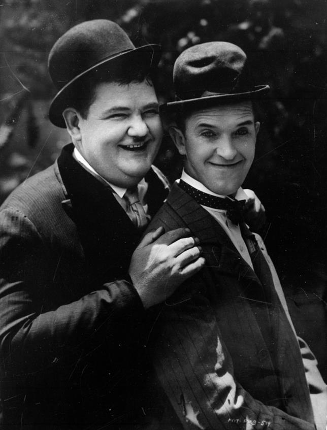 Il duo comico Laurel e Hardy