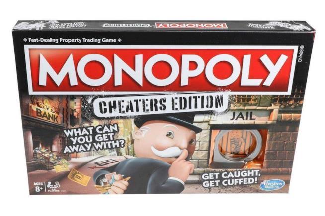 Primo piano della scatola di Monopoly: Cheater's Edition