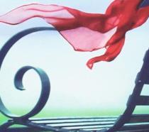 La panchina con il foulard rosso