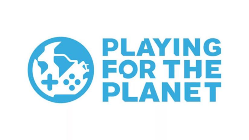 Il logo dell'ente Playing for the Planet