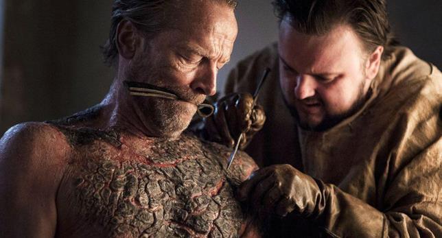 Iain Glenn in una scena chiave di Game of Thrones 7