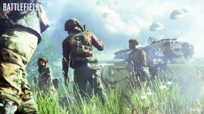 Soldati pronti a combattere nella Seconda Guerra Mondiale di Battlefield V