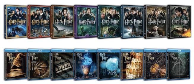 Le copertine singole dei film di Harry Potter (edizione 2016)