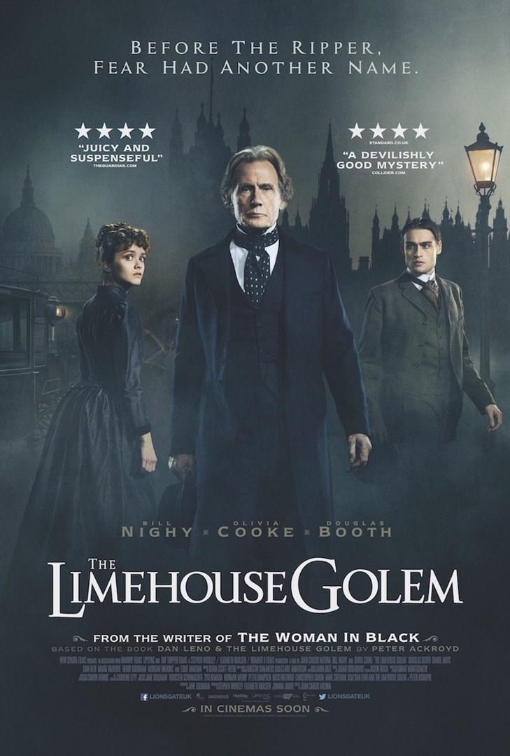 Bill Nighy, Olivia Cooke e Douglas Booth nel poster ufficiale del film The Limehouse Golem