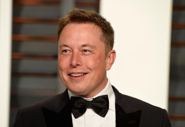 Elon Musk in primo piano