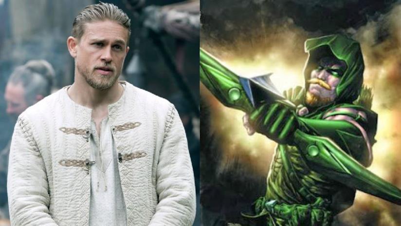 L'attore Charlie Hunnam e Green Arrow
