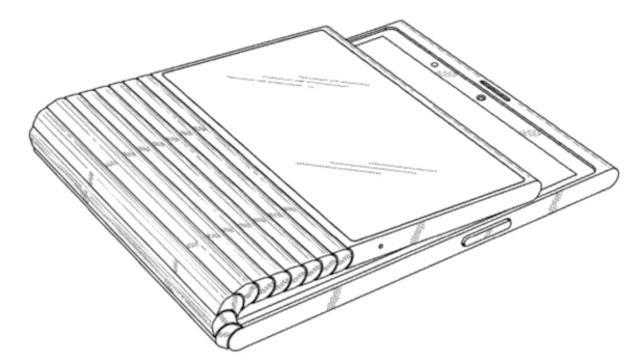 Lo smartphone pieghevole di Lenovo illustrato nella domanda di brevetto