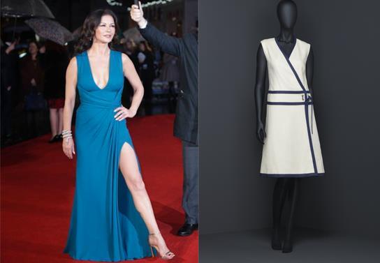 vestito di Catherine Zeta - Jones e provino di vestito wrap