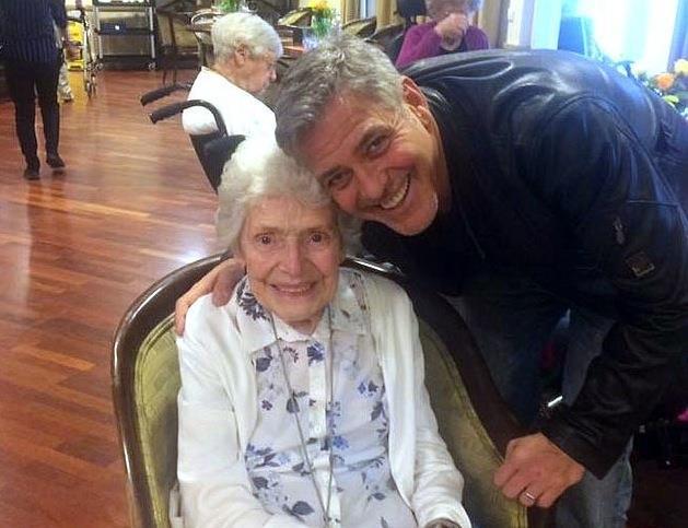 George Clooney con una fan molto speciale