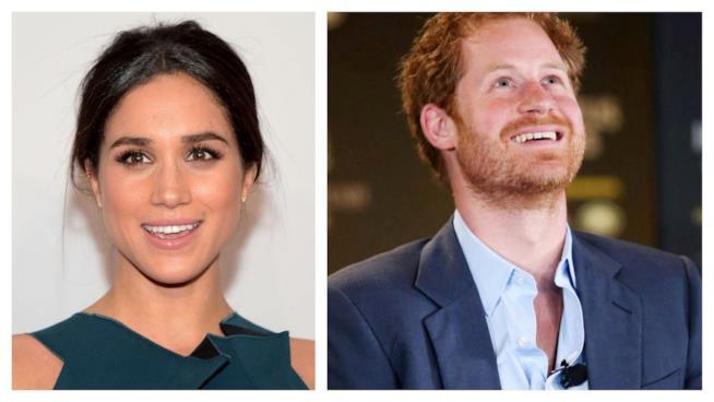 Primo piano di Meghan Markle e del Principe Harry