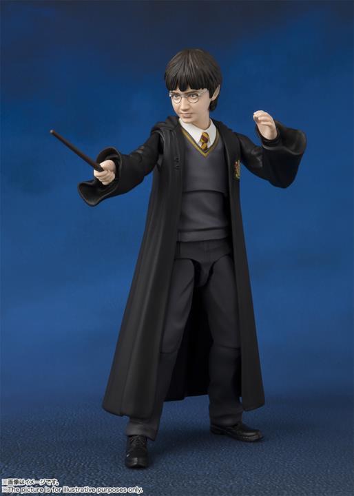 Il maghetto Harry Potter armato della sua bacchetta