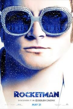 Un primo piano di Elton John usato per la locandina
