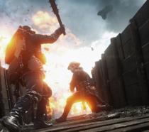 Una scena d'azione dal trailer di Battlefield 1