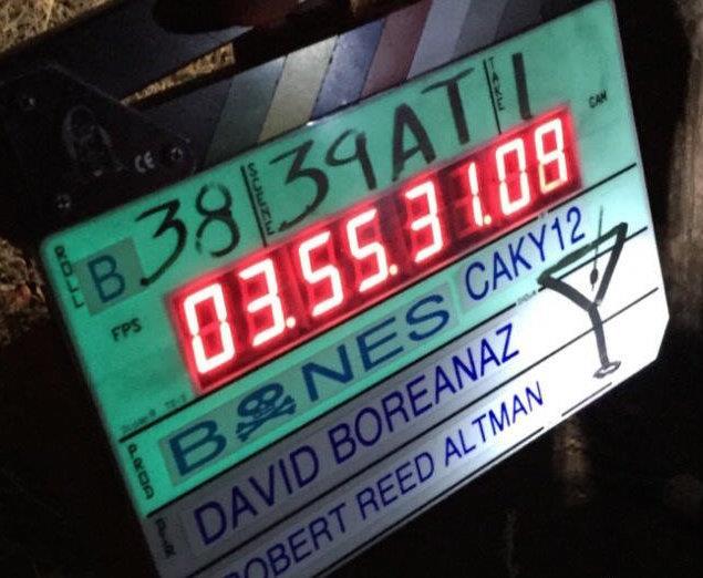 Il ciak usato durante le riprese dell'ultimo episodio della serie