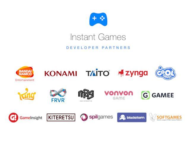 Tutti i developer coinvolti nel programma Instant Games di Facebook