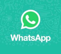 Il logo di WhatsApp, piattaforma per la messaggistica istantanea
