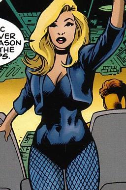 Un'immagine del Canarino Nero nei fumetti