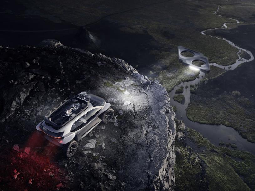 I fari volanti in grado di illuminare la strada di fronte all'auto di Audi