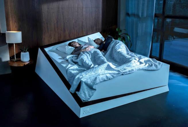 Ecco il nuovo letto brevettato da Ford, con sensori di pressione e nastro automatico.