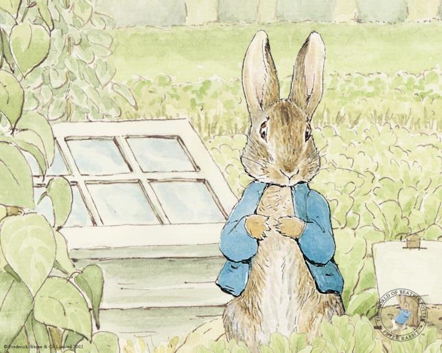 Illustrazione di Peter Coniglio di Beatrix Potter
