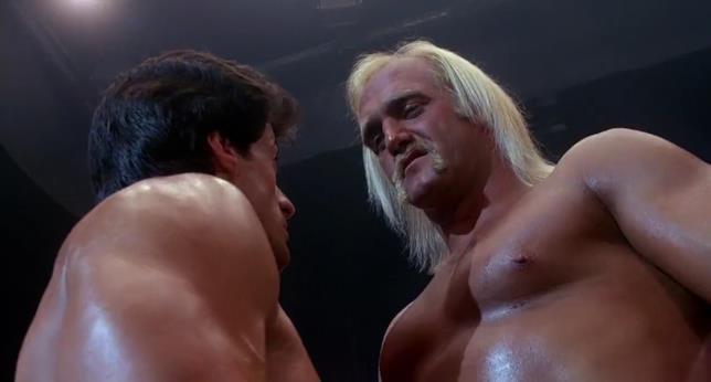 Hulk Hogan è Labra Tonanti nel film Rocky III, qui è sul ring con Rocky Balboa