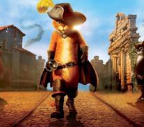 Il Gatto con gli Stivali nella locandina del film