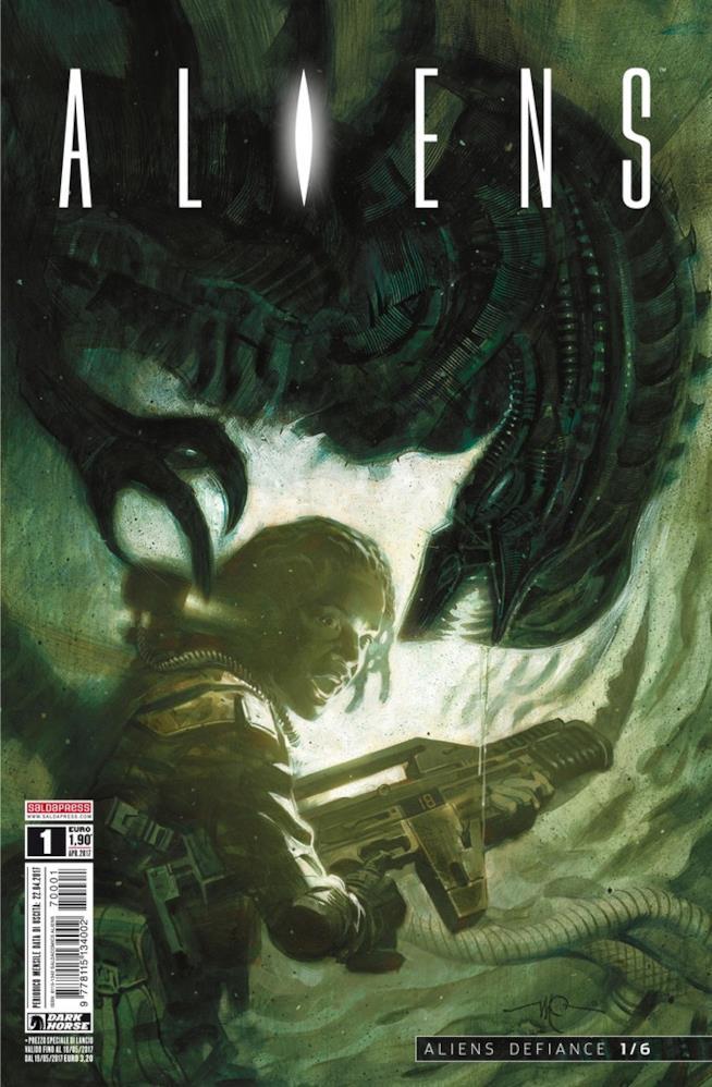 Cover del fumetto Aliens - Defiance, dell'universo Alien a fumetti