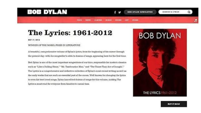 Bob Dylan Libri sito ufficiale