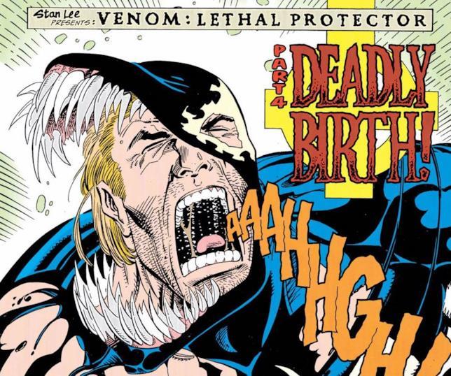 Eddie Brock soffre in una tavola di Venom: Lethal Protector