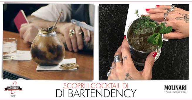 Le immagini dei due cocktail dei bartender torinesi di Bartendency